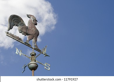 Weather Vane with blue sky area for your text