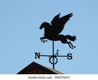 weather vane in the form of a winged horse
