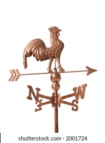 A weather vane isolated over white