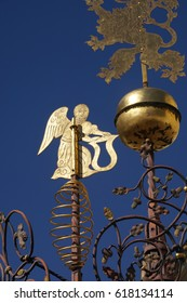 Weather vanes in small piazza, Stare Mesto, Old Town of  Prague, Czech Republic