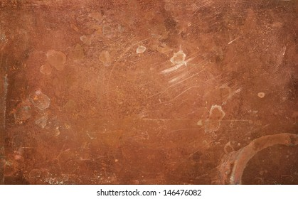 Weathered copper background