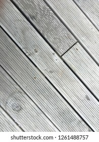 Weathered decking wood