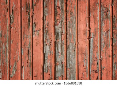 Weathered, rustic, and red wood plank background
