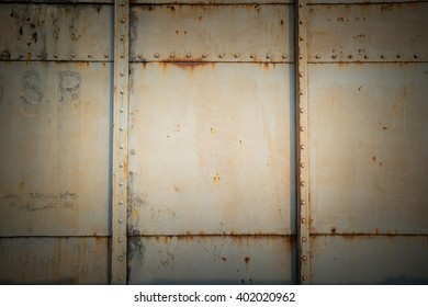 weathered steel texture and wall background. For product display and text
