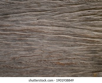 Weathered surface of an outside strong wooden table