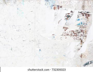 weathered urban white brick wall exposed torn street  poster background