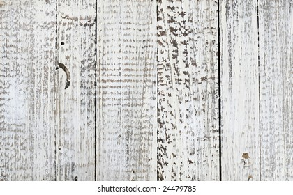 weathered white wash fence