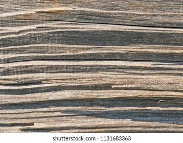 Weathered wood grain texture close up