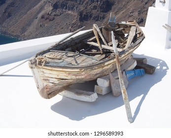 Weathered Wooden Boat