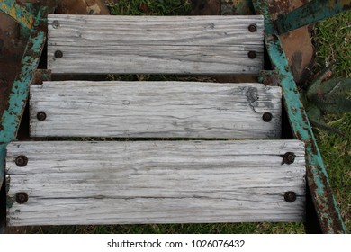 Weathered wooden steps