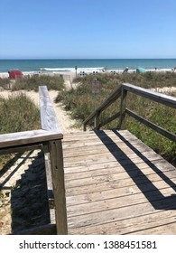 weathered wooden Walkway leading to the beach