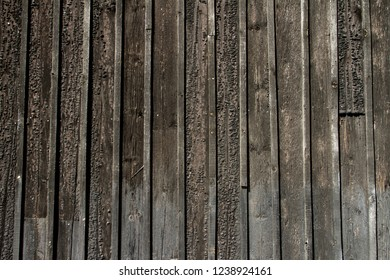 Weathered wooden wall