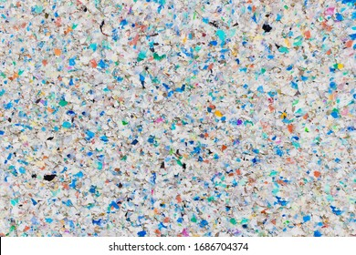 Weathering Surface Made of Multicolored Recycling Plastic