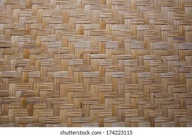 weave mat, Thai Asia style wallpaper texture of weave mat