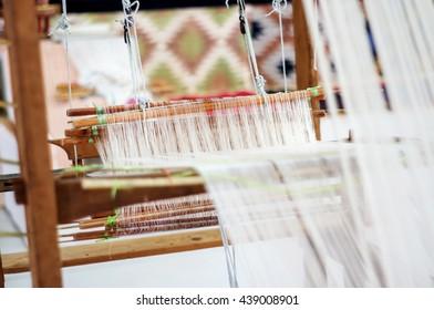 Weave textiles by Thai local wisdom.