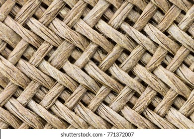 Weave texture or weave pattern background in macro style. Weaves pattern classic retro background for design.