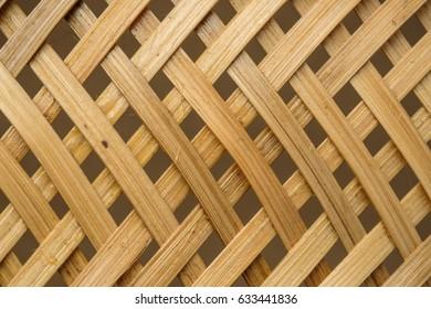 weave texture of wicker handicraft