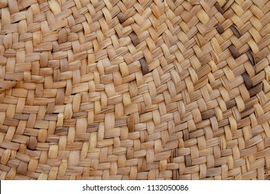 Weaved mat from dried palm leaves , traditional Emirati handcraft
