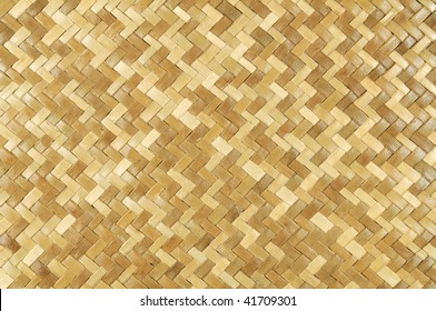 Weaved rattan mat for background use.