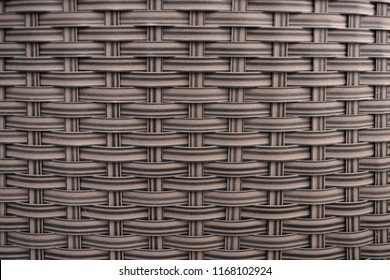 Weaved rattan patterned background.