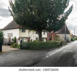 Weavering, Kent, UK, November 2019 - An ancient timber framed cottage in the village of Weavering, Kent, UK
