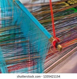 weaves with an old loom, Carpet fashionable textile handcraft rug
