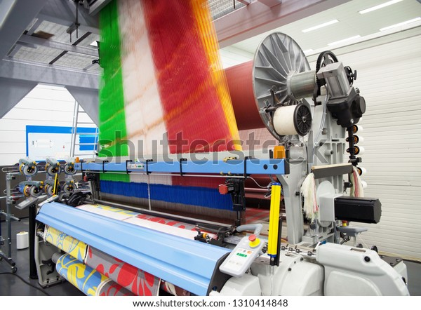 Weaving Automatic Machines Weaving Method Textile Stock