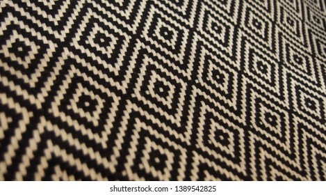 Weaving With Beautiful Pattern in Rhombuses Texture Background