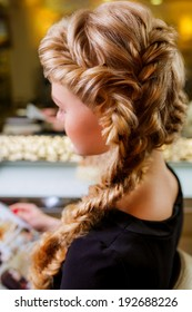 weaving braids for long hair