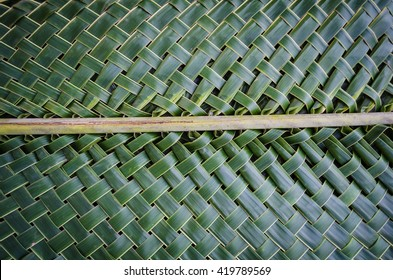 Weaving coconut leaves texture
