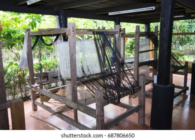 Weaving equipment Ancient style From old houses in Thailand