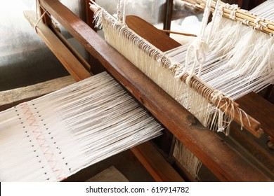 it is weaving handloom for pattern and background.