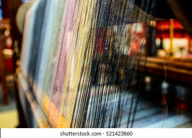 the weaving machine, Abstract background - selective focus