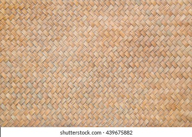 Weaving rattan basket trays isolated on white background