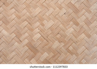 Weaving texture background, asian domestic material woven and rattan for houseware