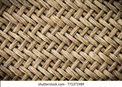 Weaving texture or weaving pattern background in macro style. Weaving texture classic retro background for design.