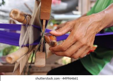 Weaving is a traditional bobbin.