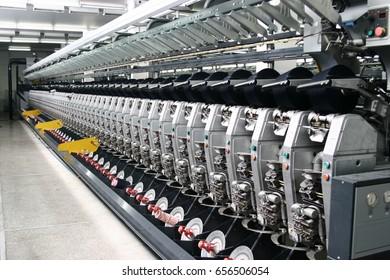 Weaving workshop, weaving machine is producing cloth