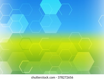 Web banner. Header layout template. Abstract template background with honeycomb shapes  Abstract Green Triangle Background.