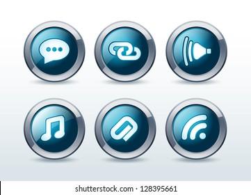Web button icons set illustration