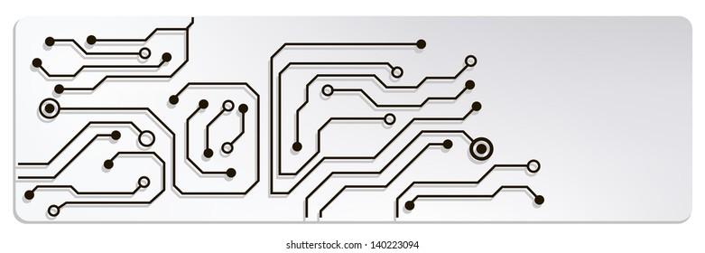 web circuit board techno banner bitmap. jpg version