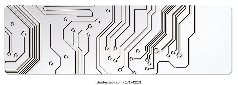 web circuit board techno banner. bitmap