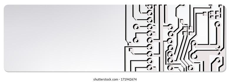 web circuit board techno banner