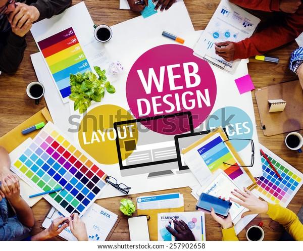 Kreatives Konzept für Webdesign-Inhalte auf der Website