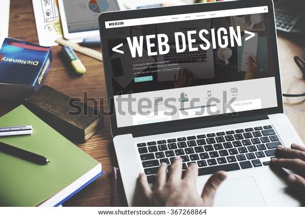 Webdesign-Website-Konzepte für Programmierung