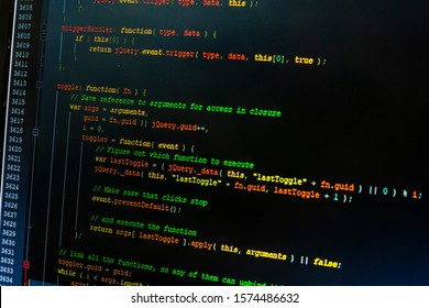 Web developer. A closer look at the source code of the website written by the developer using JavaScript - jQuery.