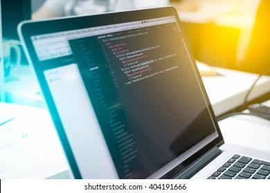 Web Developer's laptop