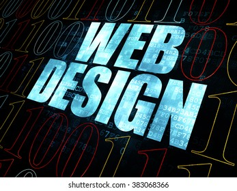 Web development concept: Web Design on Digital background
