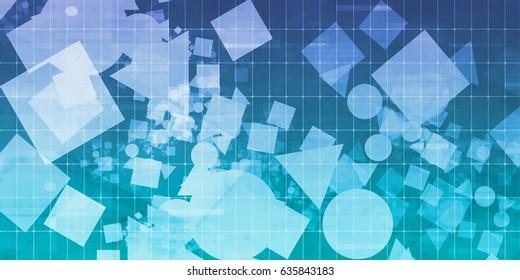 Web Development Process as a Background Concept Art