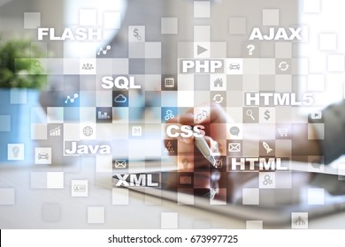 Web development. Programming. Internet and technology concept.